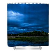 Green Cay Storm 5 Shower Curtain