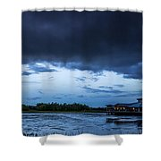 Green Cay Storm 6 Shower Curtain