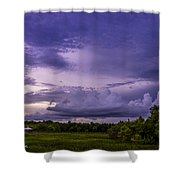 Green Cay Storm 7 Shower Curtain