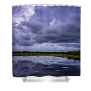 Green Cay Storm 8 Shower Curtain