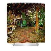Green Chair Shower Curtain