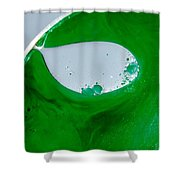 Green Chemicals Abstract Shower Curtain