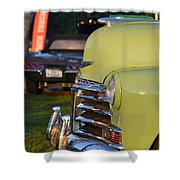 Green Chevy Shower Curtain