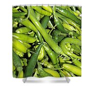 Green Chilis Shower Curtain