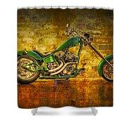 Green Chopper Shower Curtain