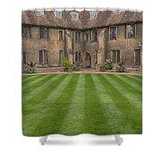 Green College Yard Shower Curtain