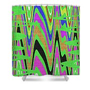 Green Color Abstract #140 Shower Curtain