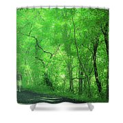 Green Creeper Shower Curtain