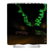 Green Curlicues Shower Curtain