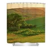 Green Dakota Dream Shower Curtain