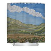 Green Desert Shower Curtain