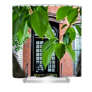 Green Distraction Shower Curtain