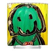 Green Dog Shower Curtain