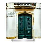 Green Door 6 Shower Curtain