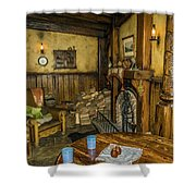 Green Dragon Fireplace Shower Curtain