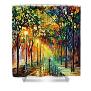 Green Dreams Shower Curtain by Leonid Afremov