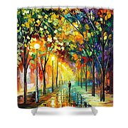 Green Dreams - Palette Knife Oil Painting On Canvas By Leonid Afremov Shower Curtain