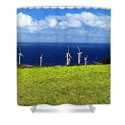 Green Energy Shower Curtain