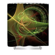 Green Energy Tunnel Shower Curtain