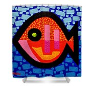 Green Eyed Fish  Shower Curtain