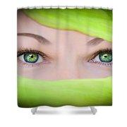 Green-eyed Girl Shower Curtain