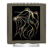 Green Eyed Lady Shower Curtain