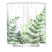 Green Fern Leaves Shower Curtain