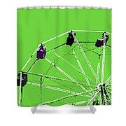 Green Ferris Wheel Shower Curtain