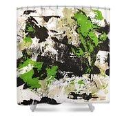 Green Field #2 Shower Curtain