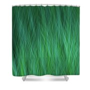 Green Fire 1 Shower Curtain