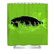 Green Fish Shower Curtain