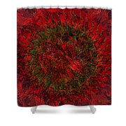Green Flame Shower Curtain