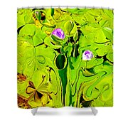 Green Fluidity Shower Curtain
