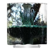 Green Fountain Shower Curtain