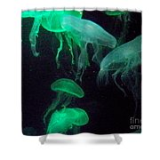 Green Freakiness Shower Curtain