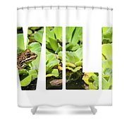 Green Frog In A Wetland Shower Curtain