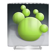 Green Globules Shower Curtain