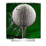 Green Golf Ball Splash Shower Curtain