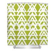 Green Graphic Diamond Pattern Shower Curtain