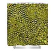 Green Grass Behind The Fence #9 Shower Curtain
