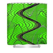 Green Grass Behind The Fence Shower Curtain