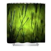 Green Grass Grow Glow Shower Curtain