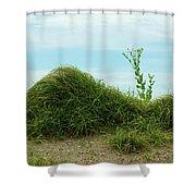 Green Grass Mountain Shower Curtain