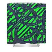 Green Grate Shower Curtain