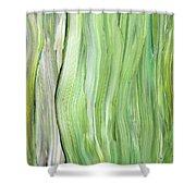 Green Gray Organic Abstract Art For Interior Decor Vi Shower Curtain