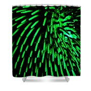 Green Hairy Blob Shower Curtain