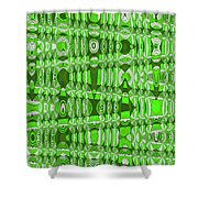 Green Heavy Screen Abstract Shower Curtain