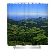 Green Hills Shower Curtain
