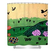 Green Hills Shower Curtain