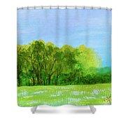 Peaceful Summer  Shower Curtain